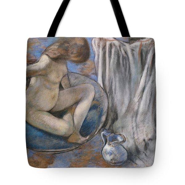 Woman In The Tub Tote Bag by Edgar Degas