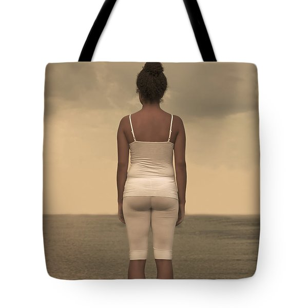 Woman On The Beach Tote Bag by Joana Kruse