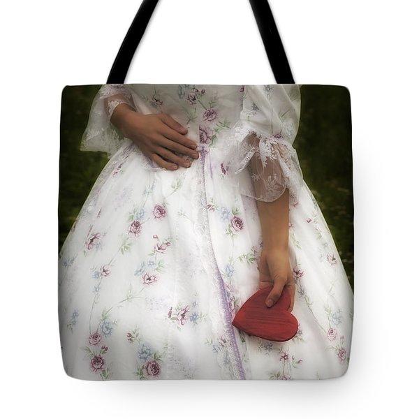Woman With A Heart Tote Bag by Joana Kruse