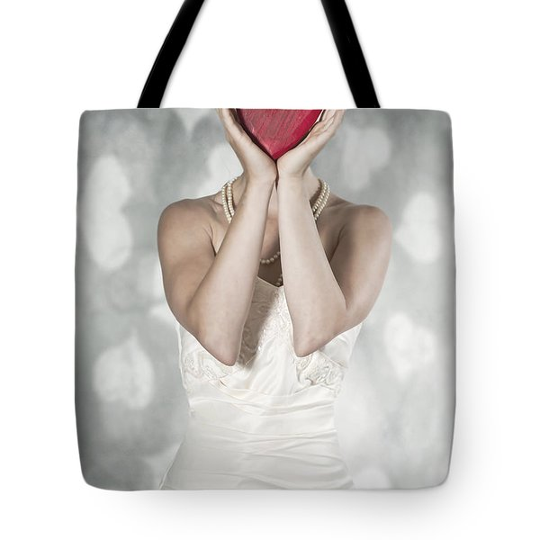 Woman With Heart Tote Bag by Joana Kruse
