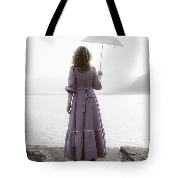 Woman With Parasol Tote Bag by Joana Kruse