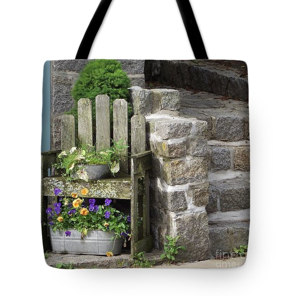 Wood And Granite Tote Bag