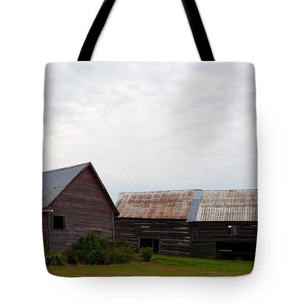 Tote Bag featuring the photograph Wood And Log Sheds by Barbara McMahon
