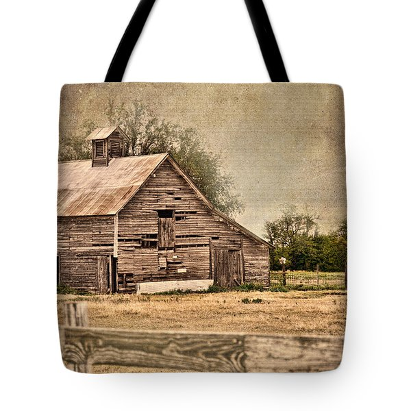 Wood Barn Tote Bag by Betty LaRue