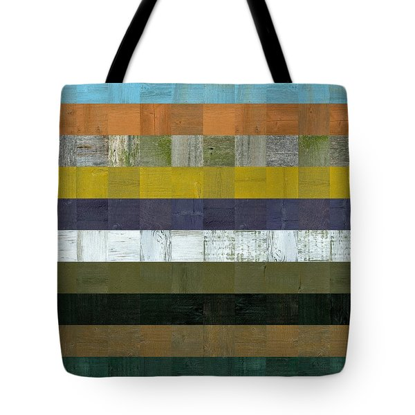 Wooden Abstract L Tote Bag by Michelle Calkins