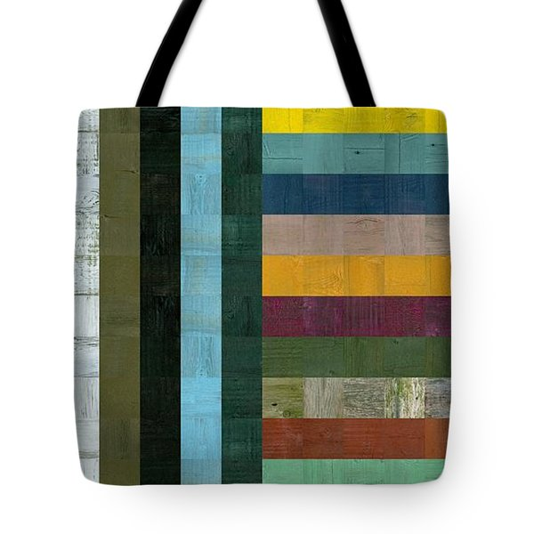 Wooden Abstract Vl  Tote Bag by Michelle Calkins