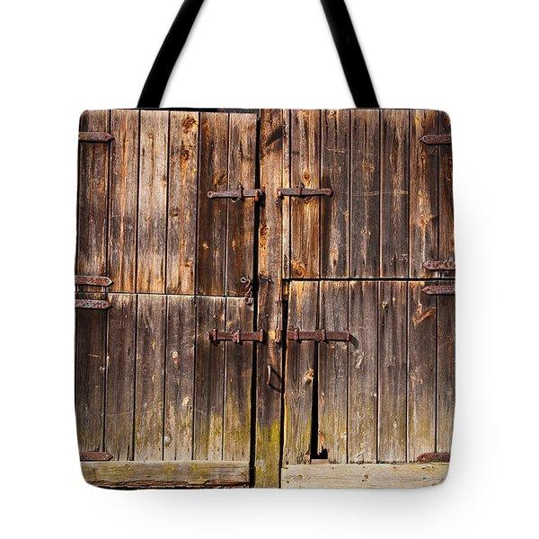 Wooden Door Tote Bag by Tom Gowanlock