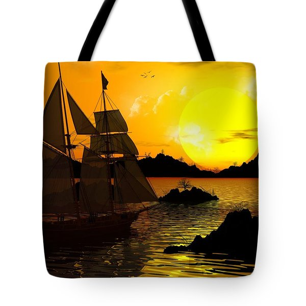 Wooden Ships Tote Bag by Robert Orinski