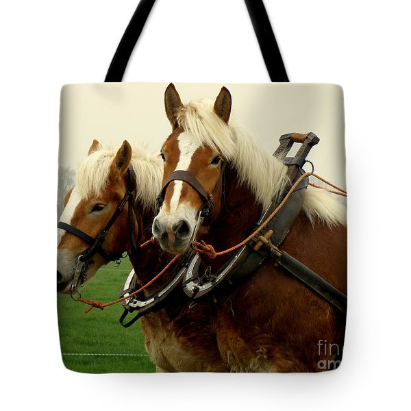 Tote Bag featuring the photograph Work Horses by Lainie Wrightson