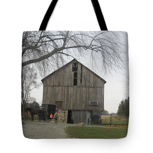 Tote Bag featuring the photograph Working Barn by Tina M Wenger