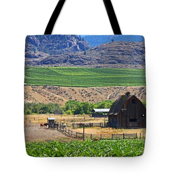 Working Farm Tote Bag by Nancy Harrison