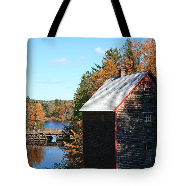 Tote Bag featuring the photograph Working Gristmill by Barbara McMahon
