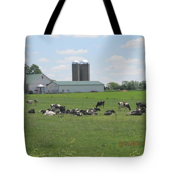 Working Milk Farm Tote Bag by Tina M Wenger