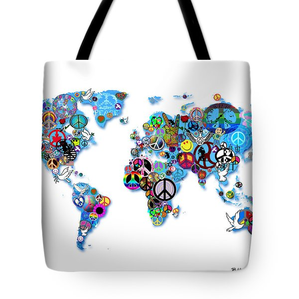 World Peace Tote Bag by Bill Cannon