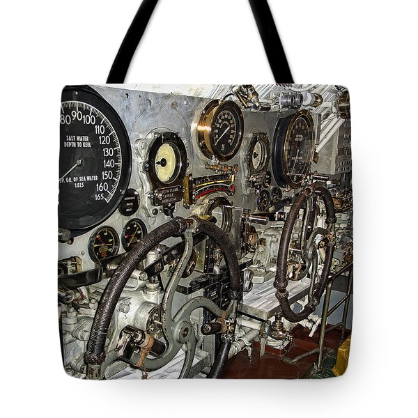 World War 2 Submarine Bow And Stern Plan Controls Tote Bag