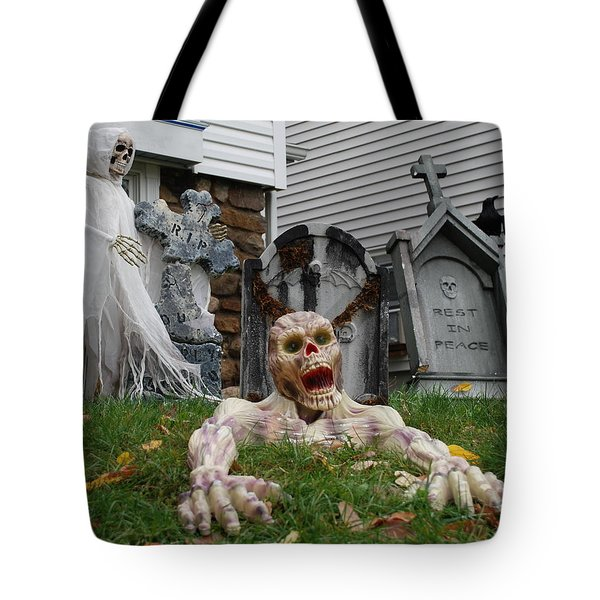 Worms Eye View Of Terror Tote Bag by Richard Bryce and Family