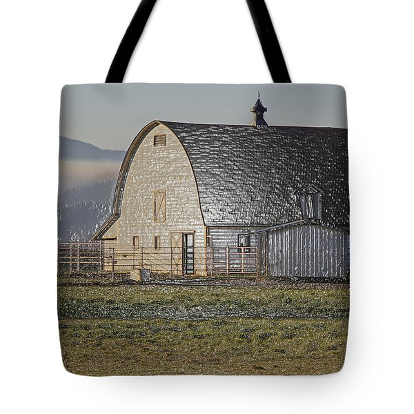 Wrapped Barn Tote Bag by Mick Anderson