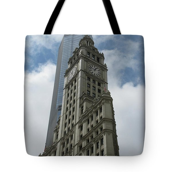 Wrigley Building Tote Bag by Arlene Carmel
