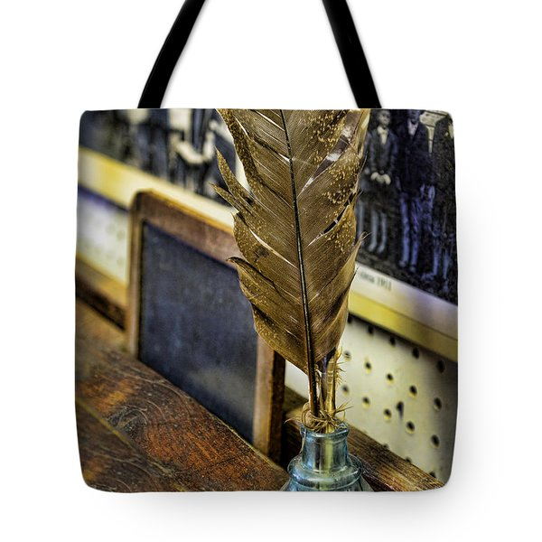 Writer - Quill And Ink Tote Bag by Paul Ward