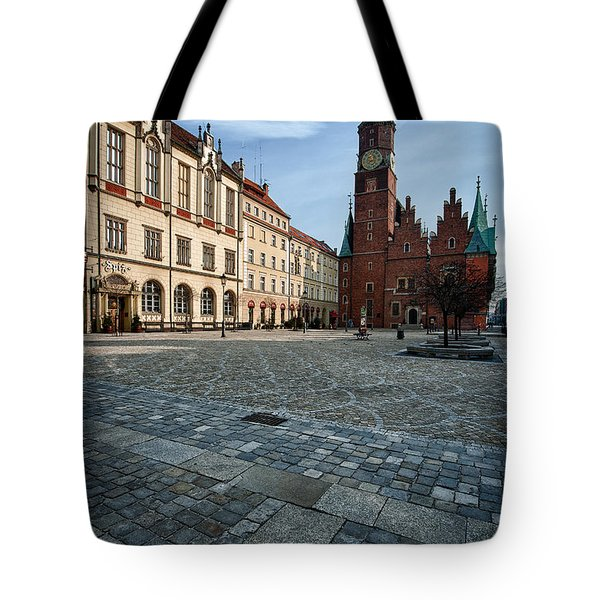 Wroclaw Town Hall Tote Bag by Sebastian Musial