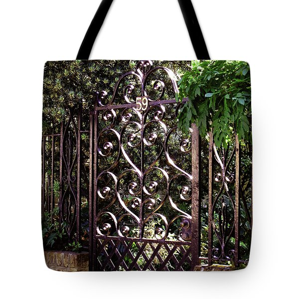 Wrought Iron Tote Bag by Jean Haynes