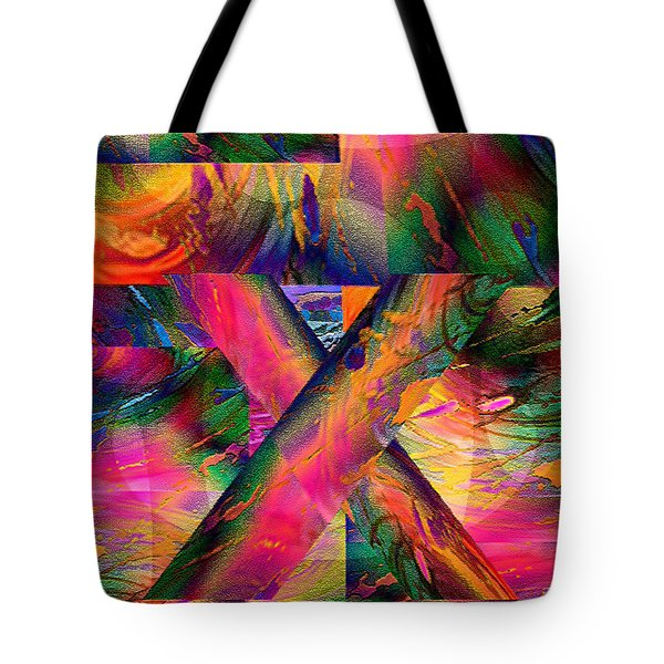 X Marks The Spot Tote Bag by Paula Ayers