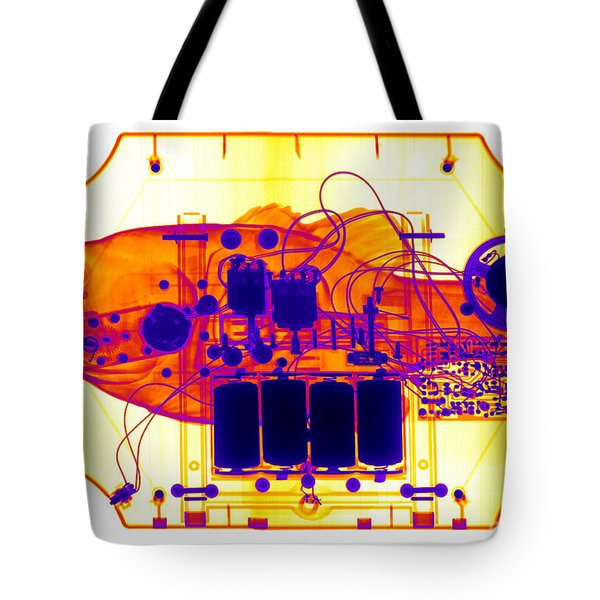 X-ray Of Mechanical Fish Tote Bag by Ted Kinsman