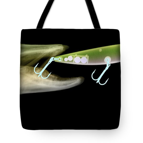 X-ray Of Muskie & Lure Tote Bag by Ted Kinsman