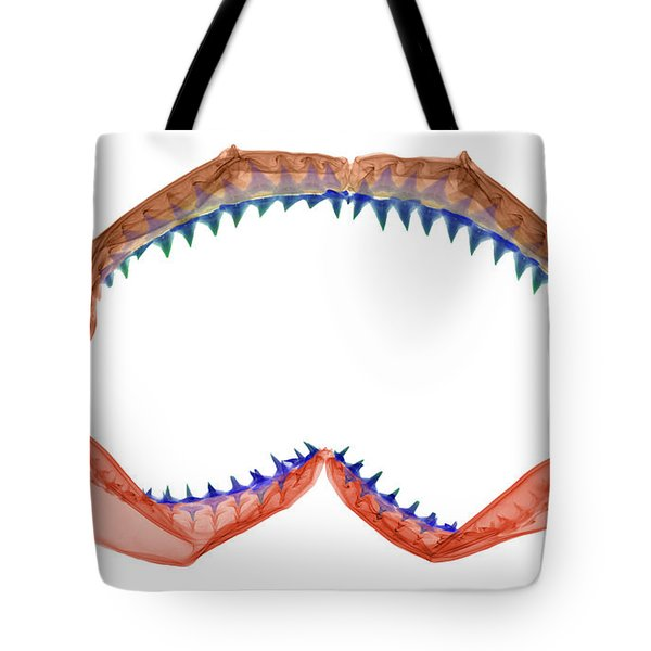 X-ray Of Shark Jaws Tote Bag by Ted Kinsman