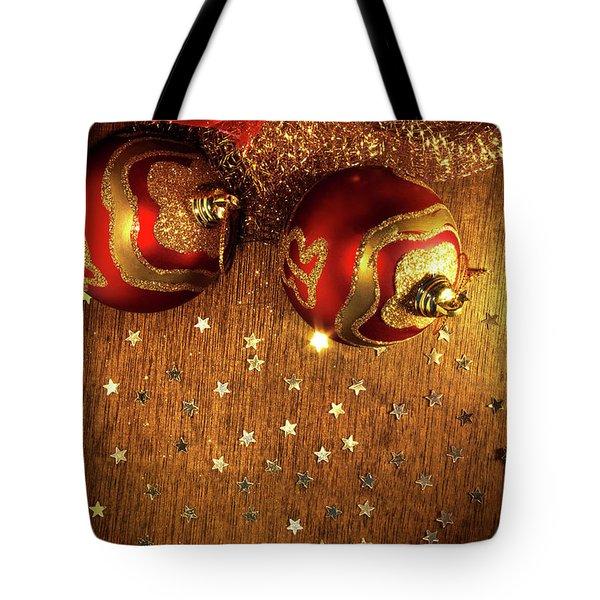 Xmas Balls Tote Bag by Carlos Caetano