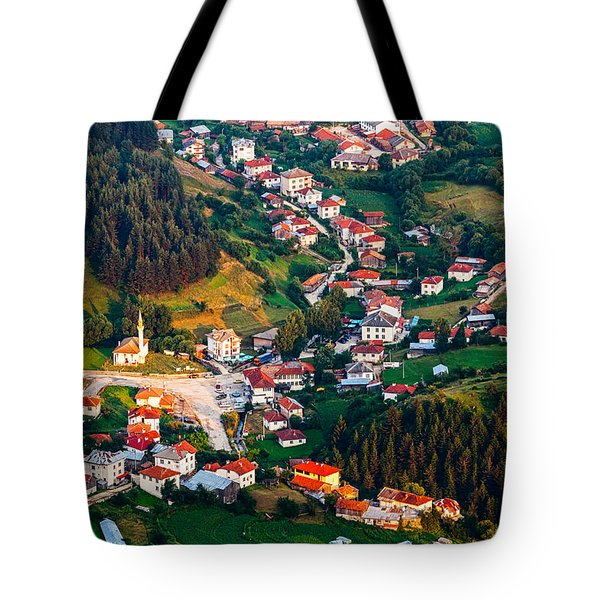 Yagodina Village Tote Bag by Evgeni Dinev