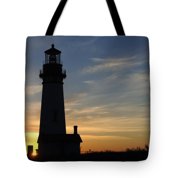 Yaquina Lighthouse Tote Bag by Bob Christopher