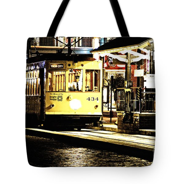 Tote Bag featuring the photograph Ybor Train by Angelique Olin
