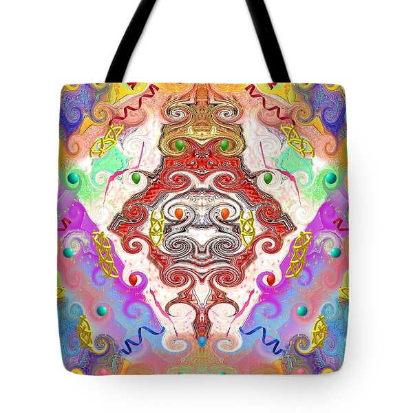 Tote Bag featuring the digital art Year Of The Dragon by Alec Drake