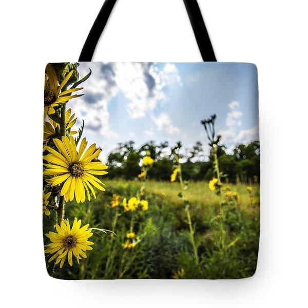 Yellow As The Sun Tote Bag by CJ Schmit