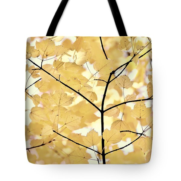 Yellow Brown Leaves Melody Tote Bag by Jennie Marie Schell