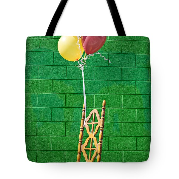 Yellow Cahir With Balloons Tote Bag by Garry Gay