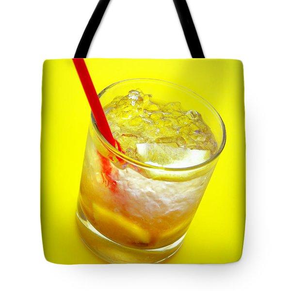 Yellow Caipirinha Tote Bag by Carlos Caetano