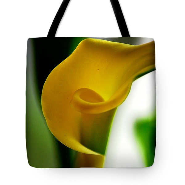 Tote Bag featuring the photograph Yellow Calla Lilies by Donna Bentley