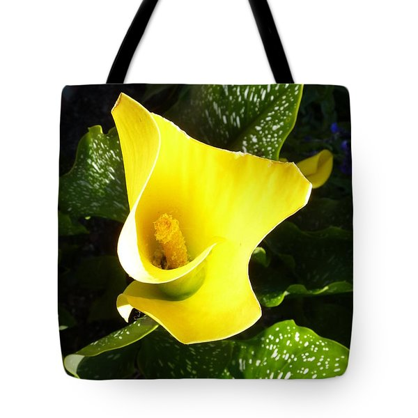 Yellow Calla Lily Tote Bag by Carla Parris
