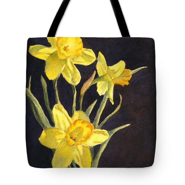 Yellow Daffs Tote Bag