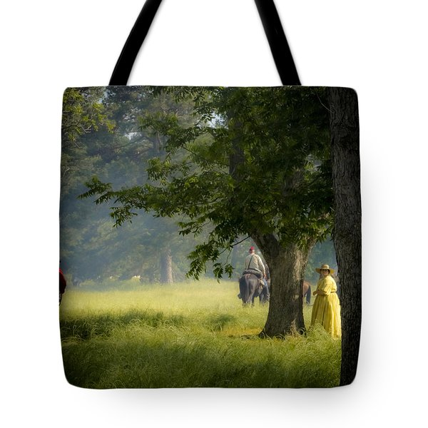 Yellow Dress Tote Bag