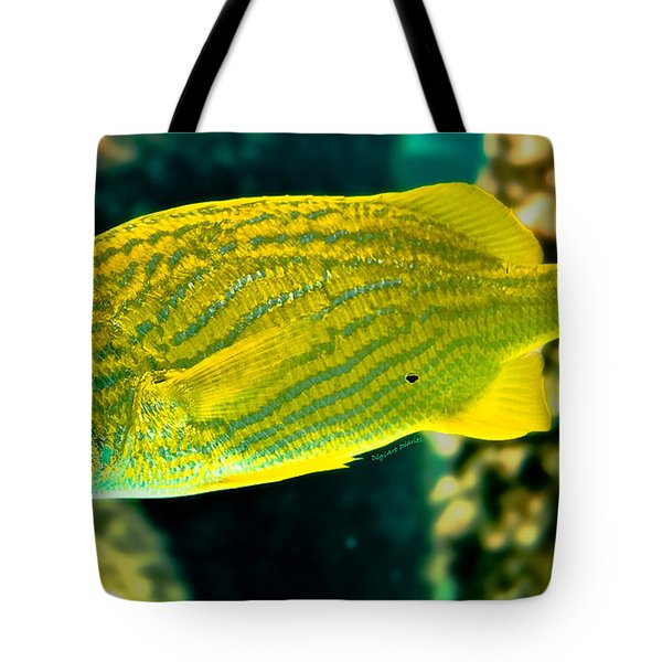 Yellow Fellow Tote Bag by DigiArt Diaries by Vicky B Fuller