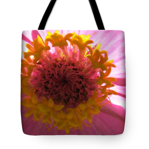 Tote Bag featuring the photograph Yellow Flowerettes Around by Tina M Wenger