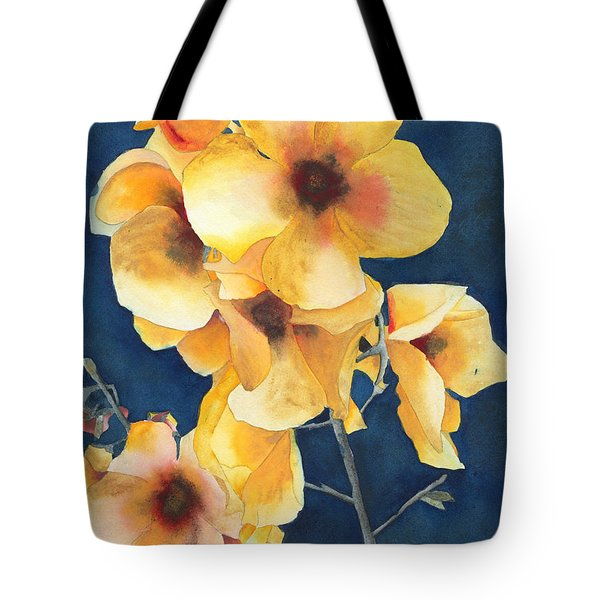 Yellow Flowers Tote Bag by Ken Powers