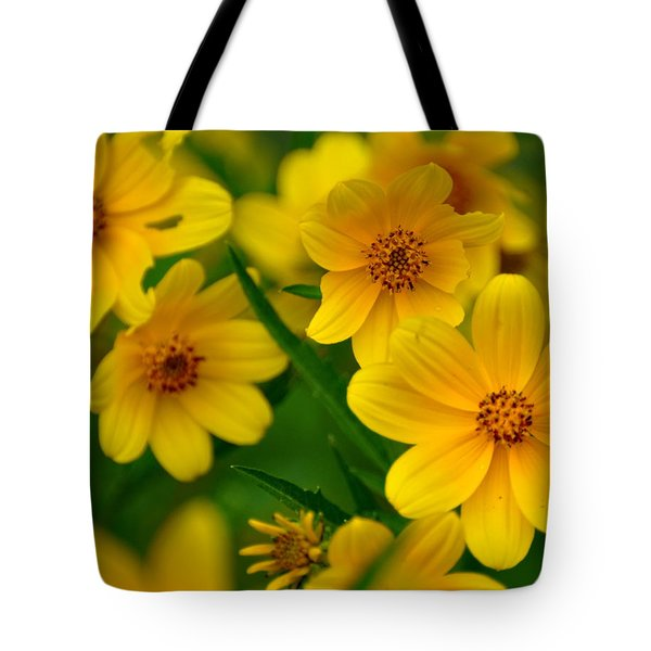 Tote Bag featuring the photograph Yellow Flowers by Marty Koch