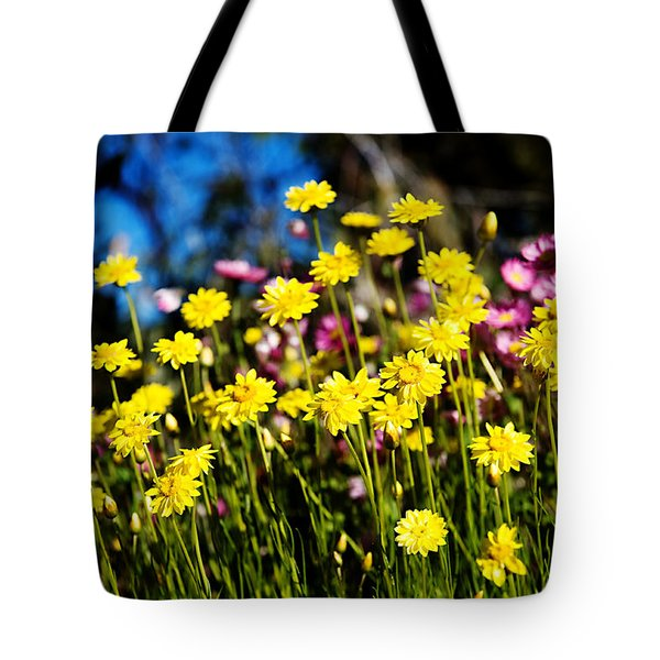 Tote Bag featuring the photograph Yellow Flowers by Yew Kwang