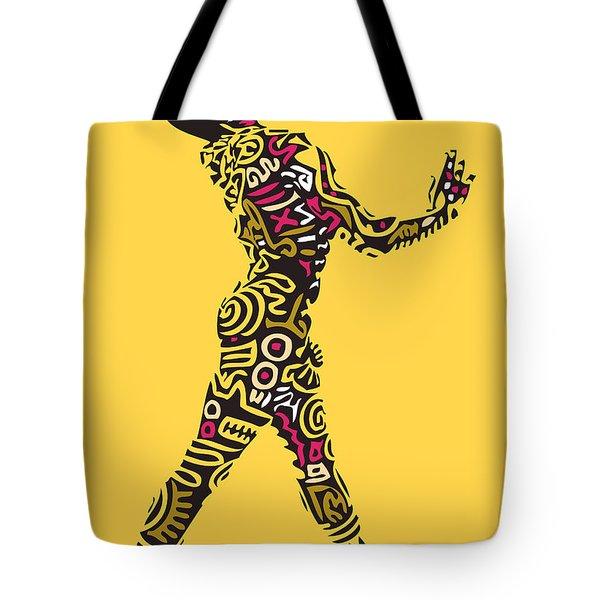 Yellow Haring Tote Bag by Kamoni Khem