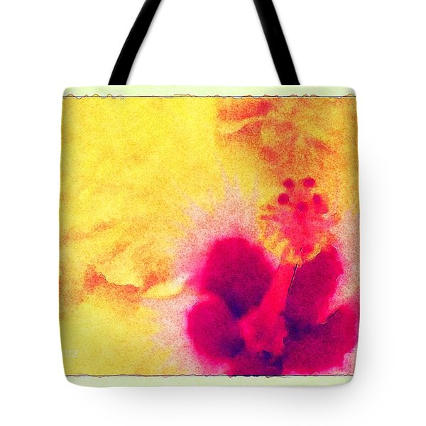 Yellow Hibiscus Flower Tote Bag