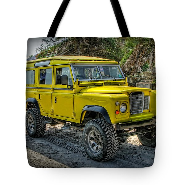 Tote Bag featuring the photograph Yellow Jeep by Adrian Evans